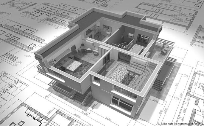 Bauplan und modell haus koenen online bauen recht for Haus bauplan